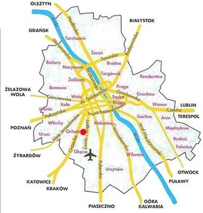 Ogólny plan Warszawy.